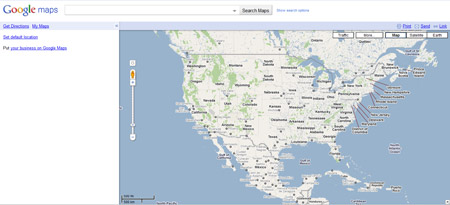 Google Maps Main Page