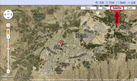 Sattelite view in Google Maps