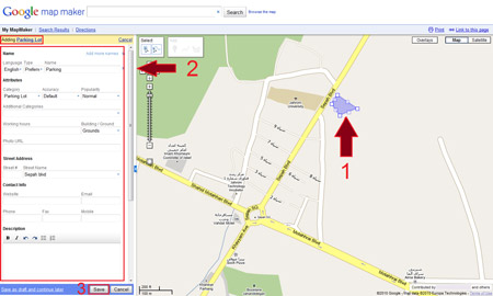 how to mark an area in MapMaker