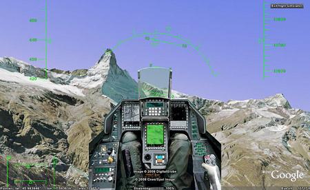Flisght Simulator in Google Earth