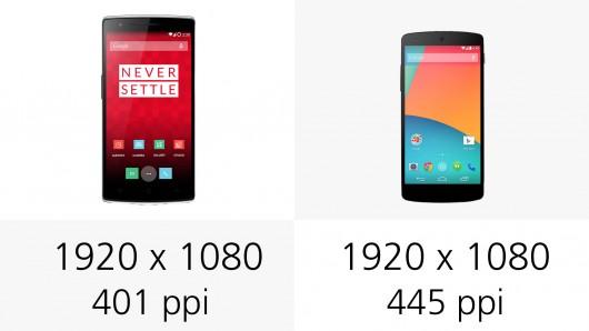 OnePlus One و Nexus 5