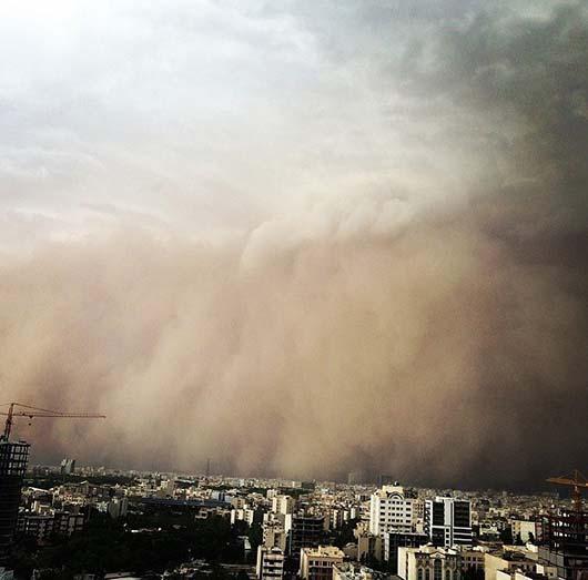 وحشتناک ترین تصاویر توفان دیروز تهران (2)