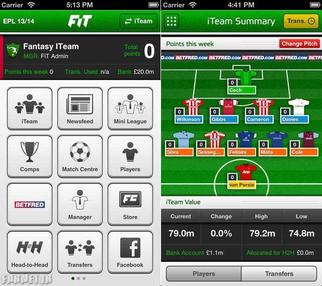 Fantasy-iTeam-App