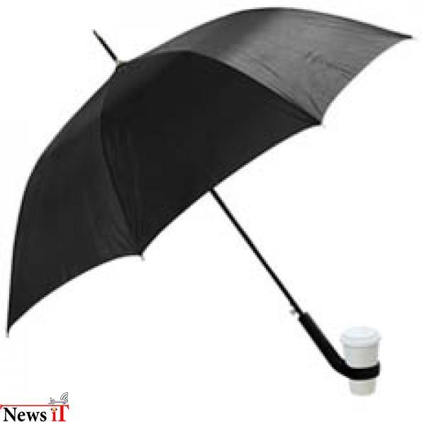 17. چتر با یک نگهدارنده فنجان