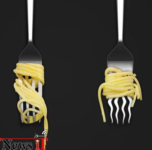 8. و چنگال اسپاگتی