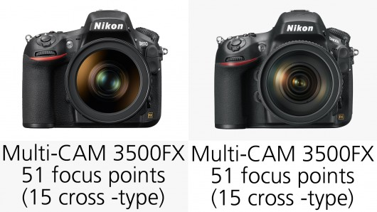 مقایسه ی نیکون D810 با نیکون  D800/E