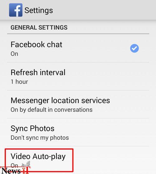 چگونه از پخش خودکار ویدیوهای فیسبوک جلوگیری کنیم؟(اندروید و ios)