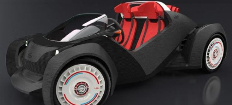 اولین اتومبیل تولید شده توسط تکنولوژی پرینت سه بعدی در خیابان