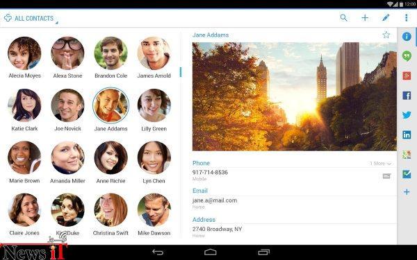 با +Contacts به مخاطبین تلفن خود در شبکه های اجتماعی مختلف از یک محل پیغام بدهید