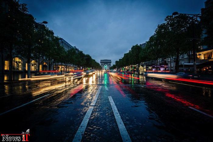 عکاسی از شهر در هوای بارانی
